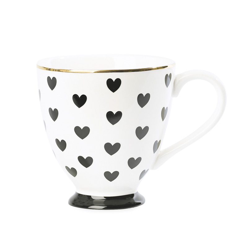 miss toile kaffeetasse big hearts schwarz online kaufen. Black Bedroom Furniture Sets. Home Design Ideas