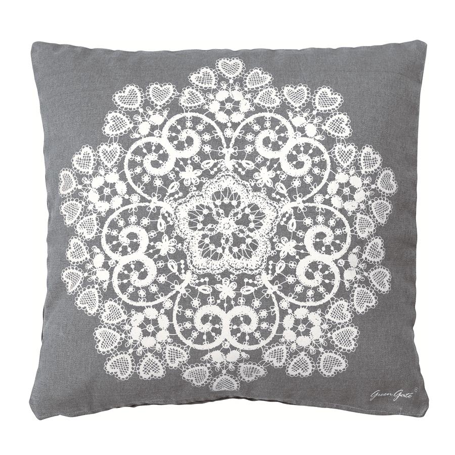 greengate kissenh lle doily warm grey 50 x 50 cm online kaufen emil paula. Black Bedroom Furniture Sets. Home Design Ideas