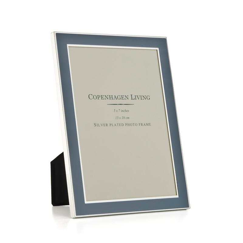 klassischer bilderrahmen versilbert blaues metall 20x15 cm online kaufen emil paula. Black Bedroom Furniture Sets. Home Design Ideas