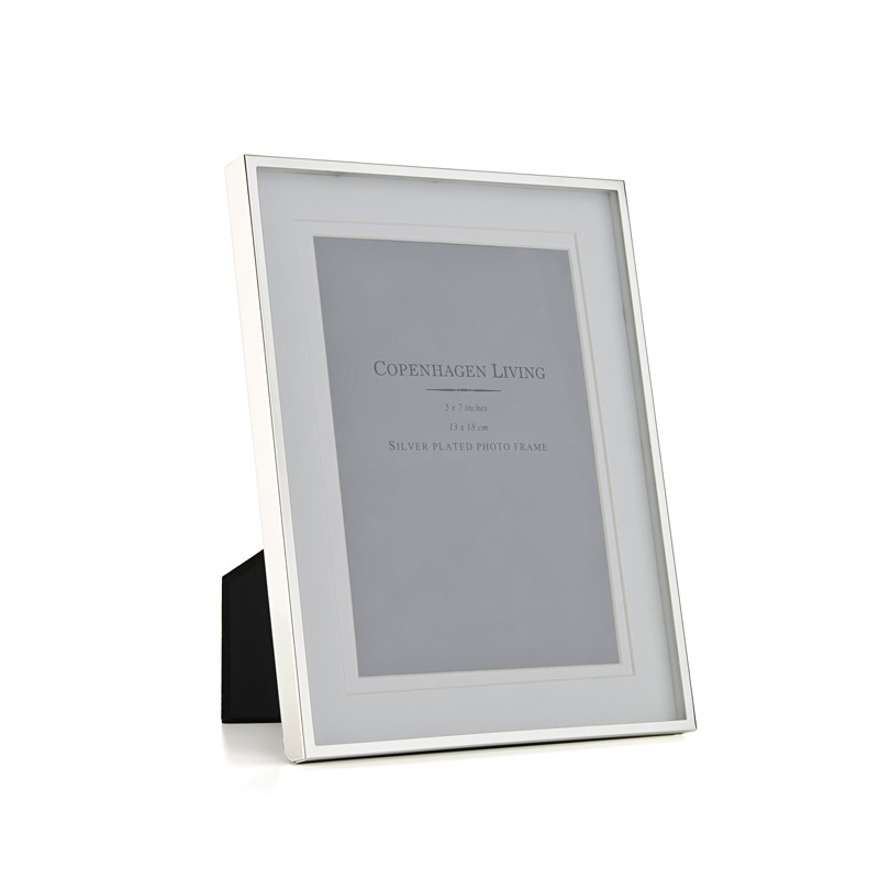 klassischer bilderrahmen versilbert wei 23 5x18 cm online kaufen emil paula. Black Bedroom Furniture Sets. Home Design Ideas