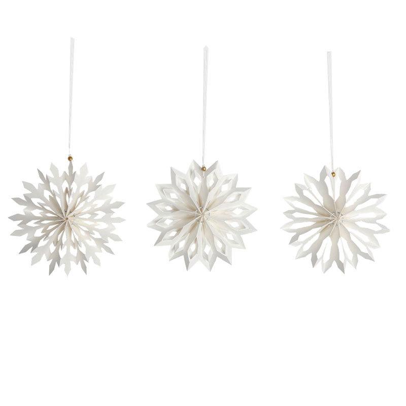 house doctor weihnachten anh nger snowflake 6er set online kaufen emil paula. Black Bedroom Furniture Sets. Home Design Ideas