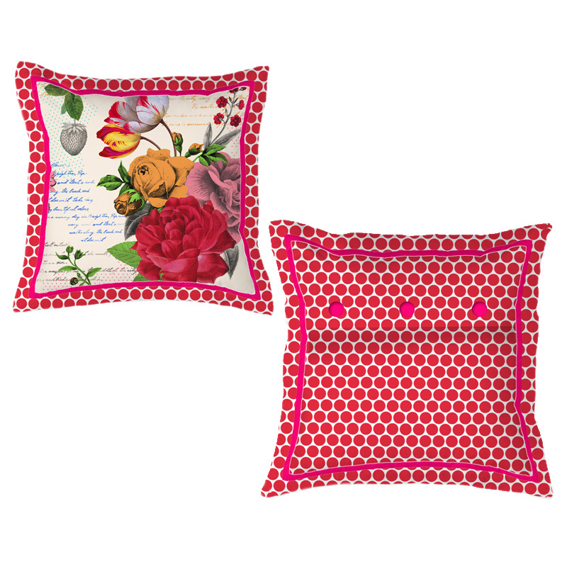pip studio kissen flowers white 45 x 45 online kaufen. Black Bedroom Furniture Sets. Home Design Ideas