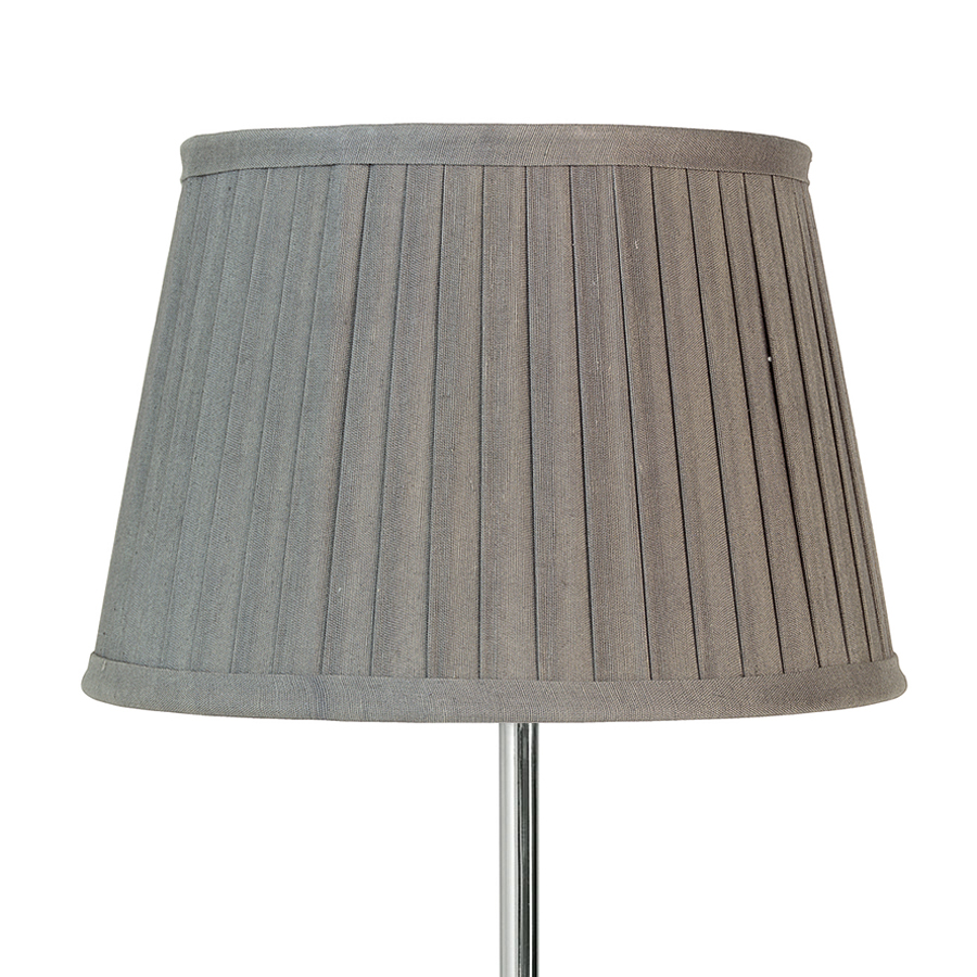 greengate lampenschirm pleated warm grey gro online kaufen emil paula. Black Bedroom Furniture Sets. Home Design Ideas