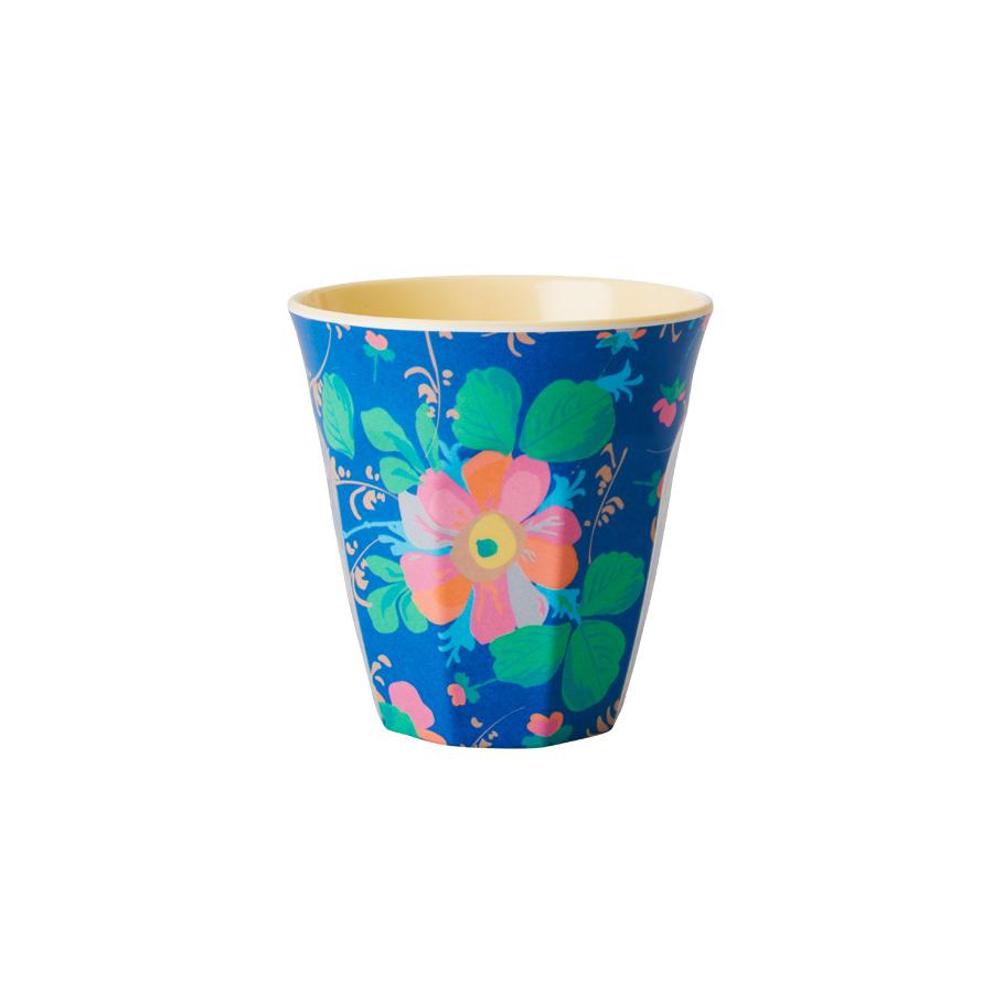 rice melamin becher two tone bold flower blau online. Black Bedroom Furniture Sets. Home Design Ideas