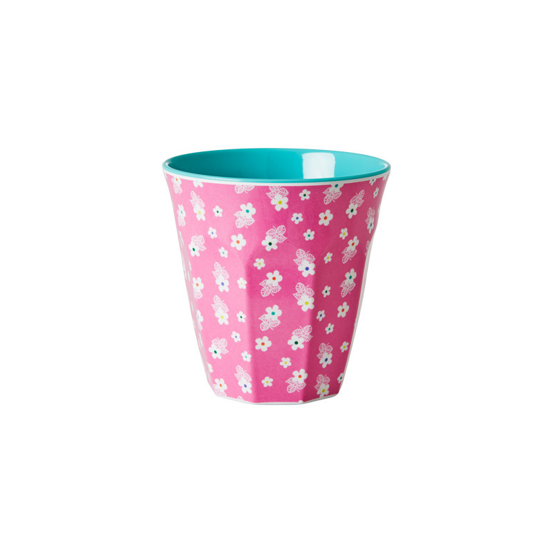 rice melamin becher two tone pink flowers online kaufen. Black Bedroom Furniture Sets. Home Design Ideas