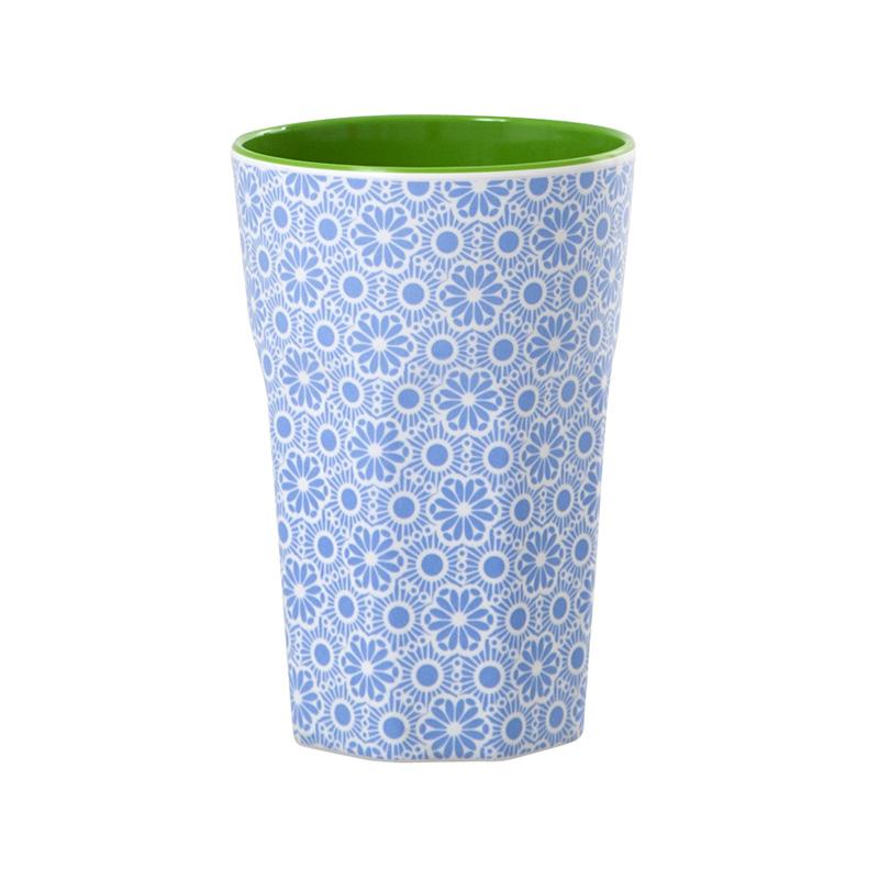 rice melamin lattebecher marrakesch blau wei online. Black Bedroom Furniture Sets. Home Design Ideas
