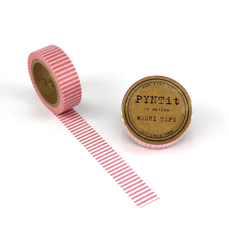 pyntit washi tape stripes pink online kaufen emil paula. Black Bedroom Furniture Sets. Home Design Ideas