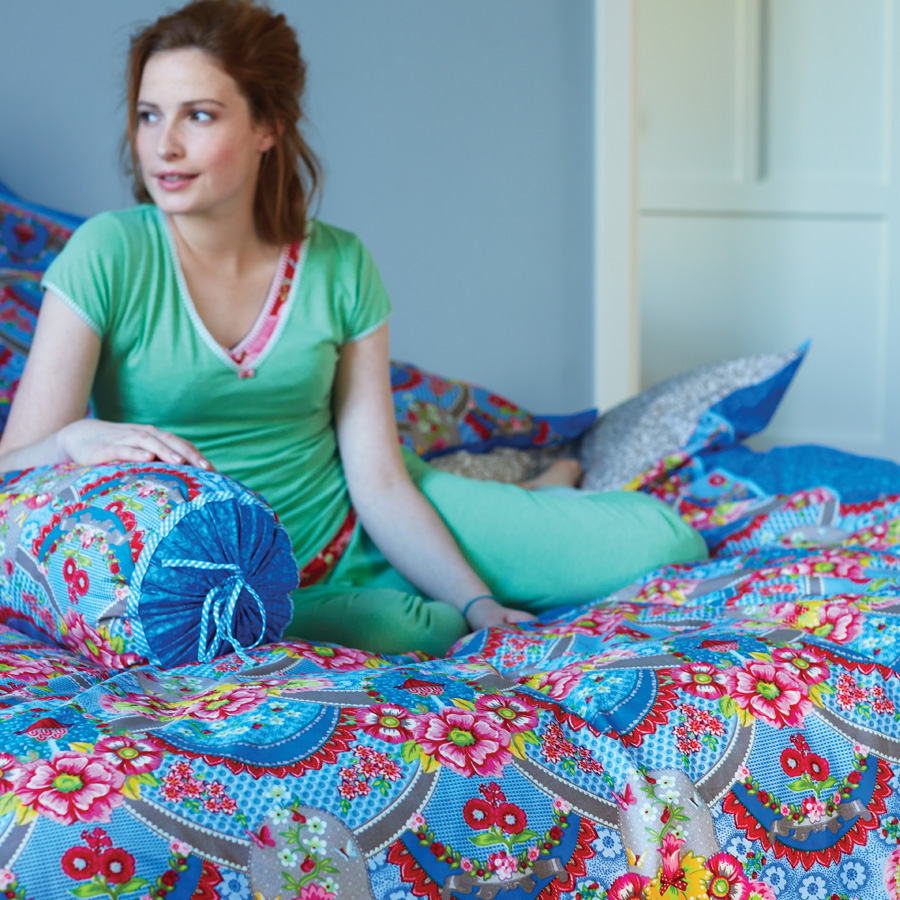 pip studio bettw sche pip garland blue online kaufen. Black Bedroom Furniture Sets. Home Design Ideas