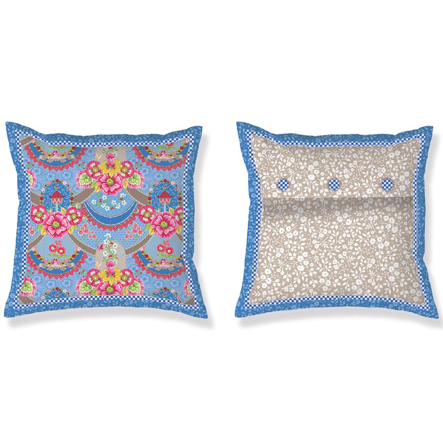 pip studio kissen pip garland blue 45 x 45 online kaufen. Black Bedroom Furniture Sets. Home Design Ideas