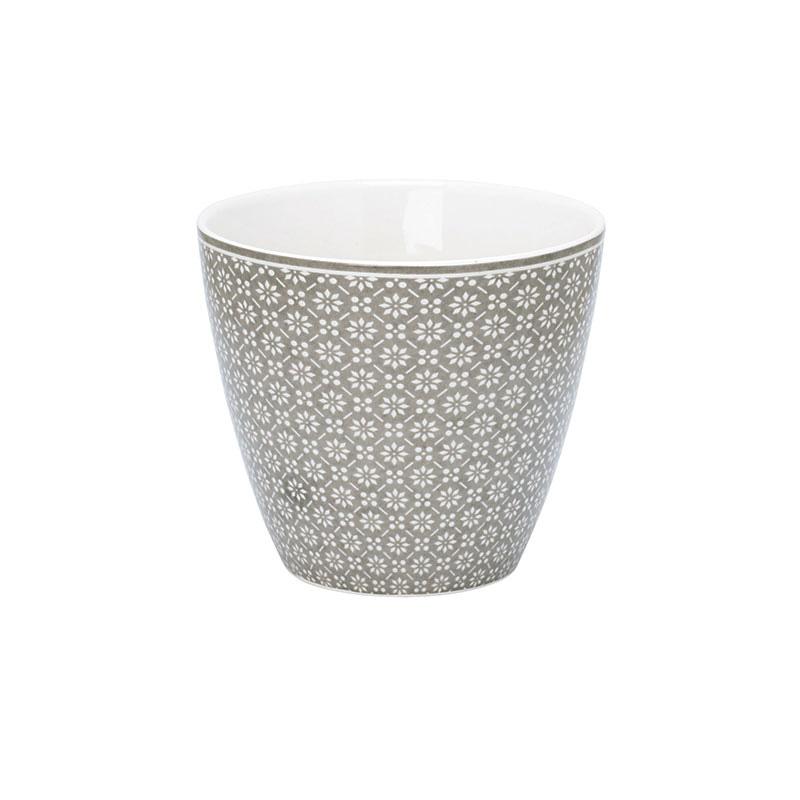greengate latte cup becher nanna warm grey online kaufen. Black Bedroom Furniture Sets. Home Design Ideas