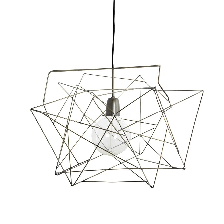 house doctor deckenlampe asymmetric metallgrau online. Black Bedroom Furniture Sets. Home Design Ideas