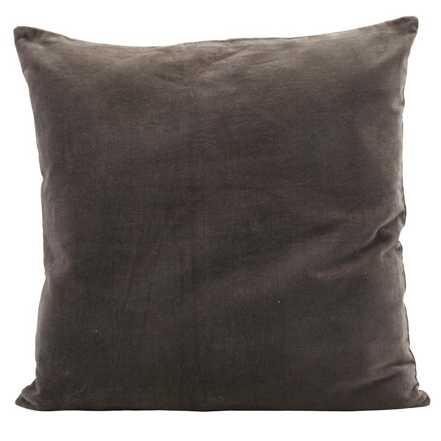 house doctor kissenbezug velv grau 50x50 cm online kaufen emil paula. Black Bedroom Furniture Sets. Home Design Ideas