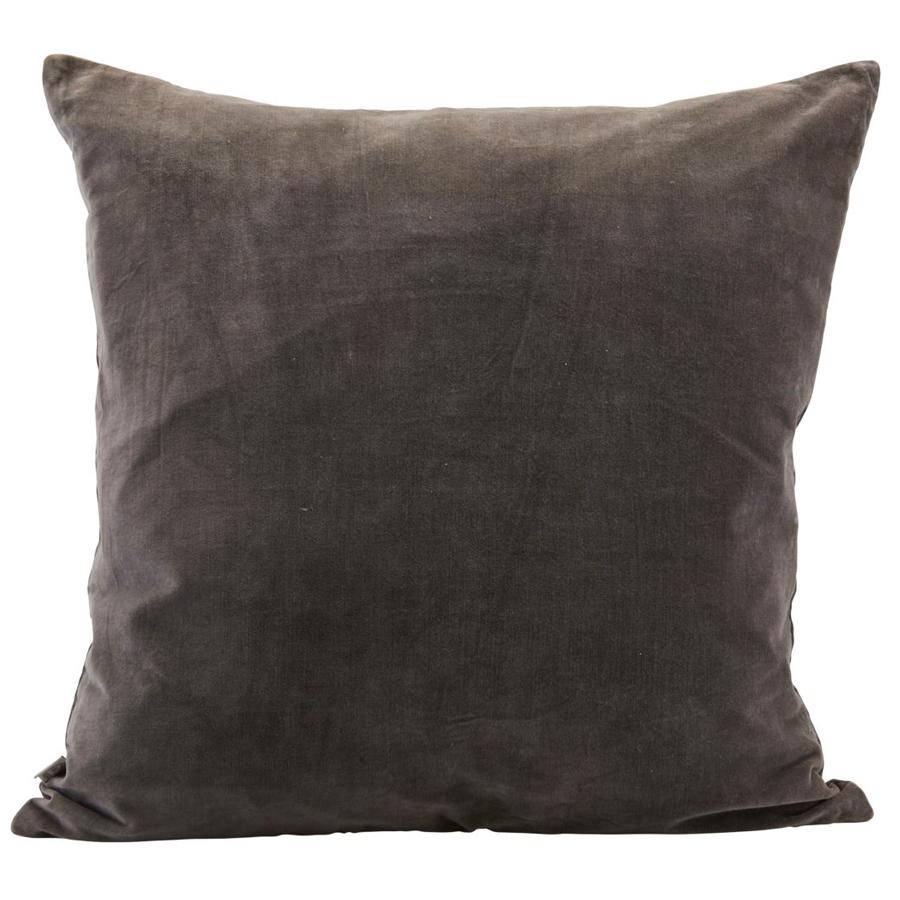 house doctor kissenbezug velv grau 60x60 cm online kaufen emil paula. Black Bedroom Furniture Sets. Home Design Ideas