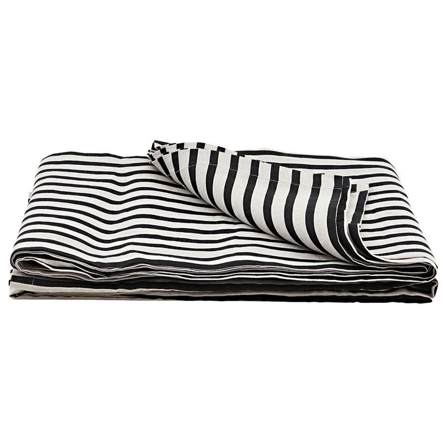 house doctor tagesdecke stripe schwarz grau 140x200 online kaufen emil paula. Black Bedroom Furniture Sets. Home Design Ideas