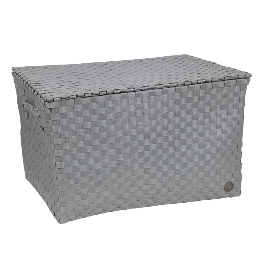 handed by korb mit deckel ancona flint grey online kaufen. Black Bedroom Furniture Sets. Home Design Ideas