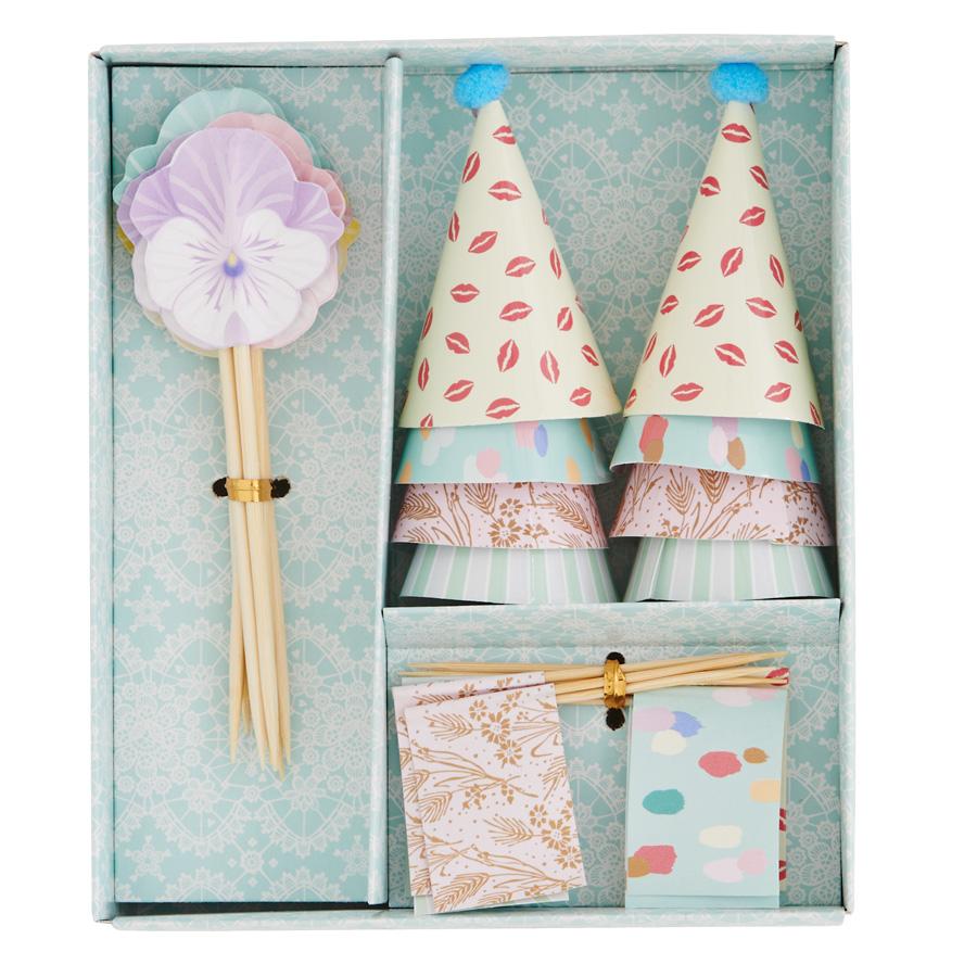 Rice Kuchen Deko Set Hute Flaggen Und Blumen In Box Online Kaufen