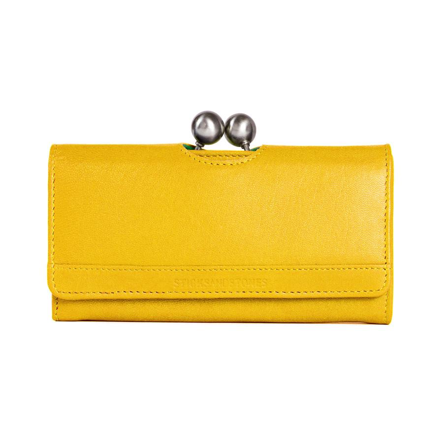 sticks and stones portemonnaie berlin yellow online kaufen emil paula. Black Bedroom Furniture Sets. Home Design Ideas