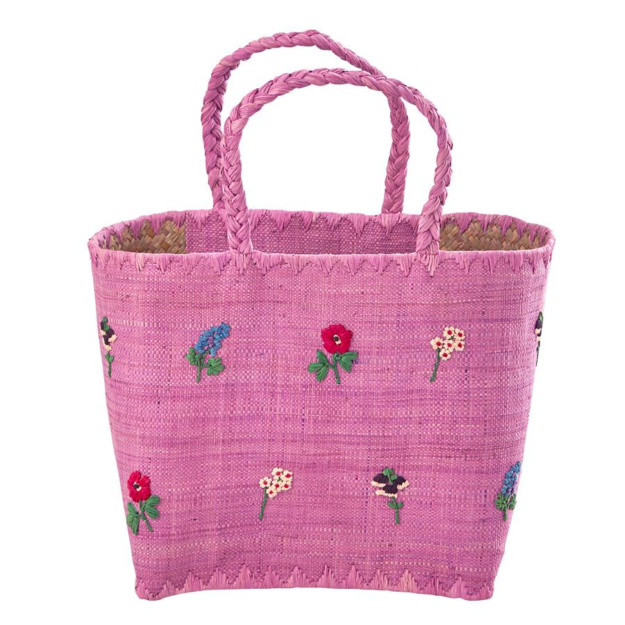 Rice Korb Tasche Lavender Fantasy Flowers Flowers Medium