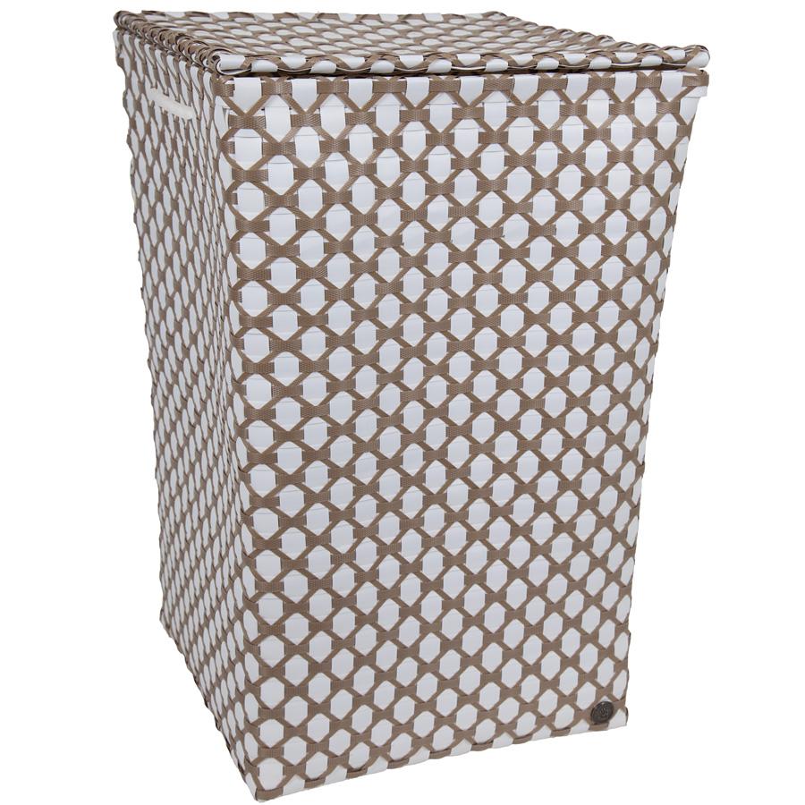 handed by lyon w schekorb mit deckel wei beige online. Black Bedroom Furniture Sets. Home Design Ideas