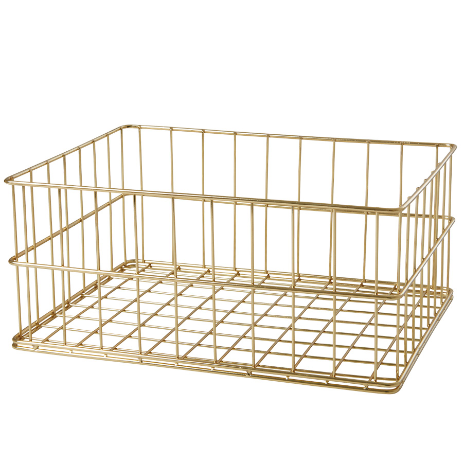rice metallkorb low gold online kaufen emil paula. Black Bedroom Furniture Sets. Home Design Ideas