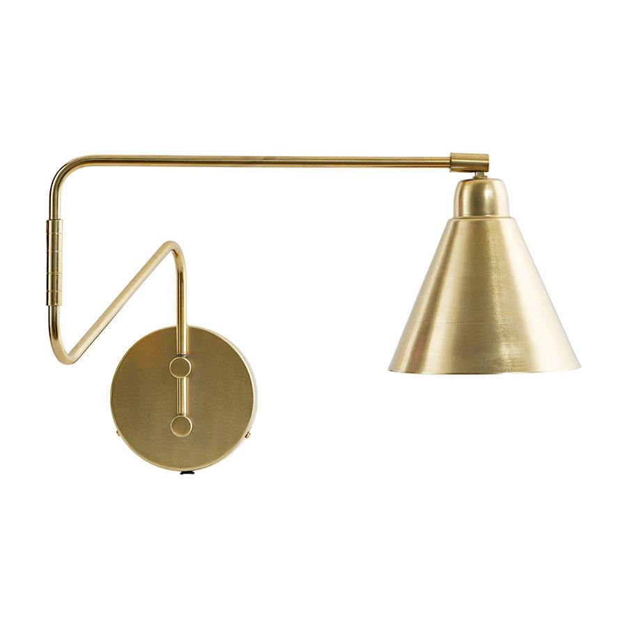 house doctor wandlampe game messing wei online kaufen emil paula. Black Bedroom Furniture Sets. Home Design Ideas