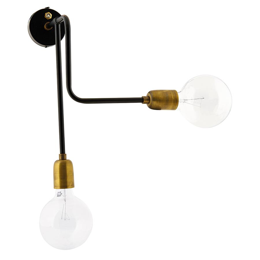 house doctor wandlampe molecular schwarz messing online. Black Bedroom Furniture Sets. Home Design Ideas