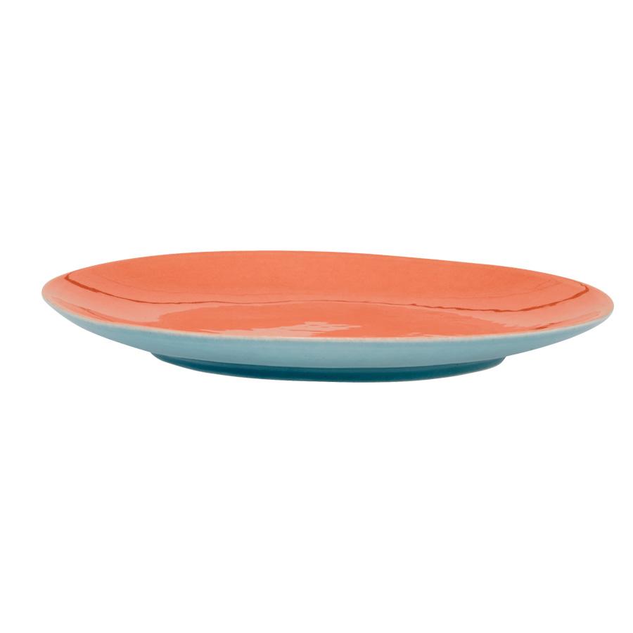 rice keramik speiseteller two tone coral mint online kaufen emil paula. Black Bedroom Furniture Sets. Home Design Ideas