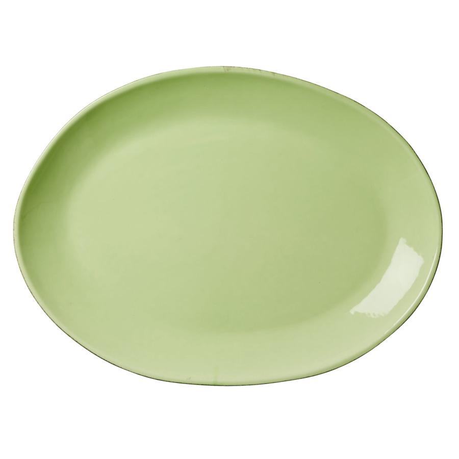 rice keramik servierplatte l oval organic shaped pastel green online kaufen emil paula. Black Bedroom Furniture Sets. Home Design Ideas