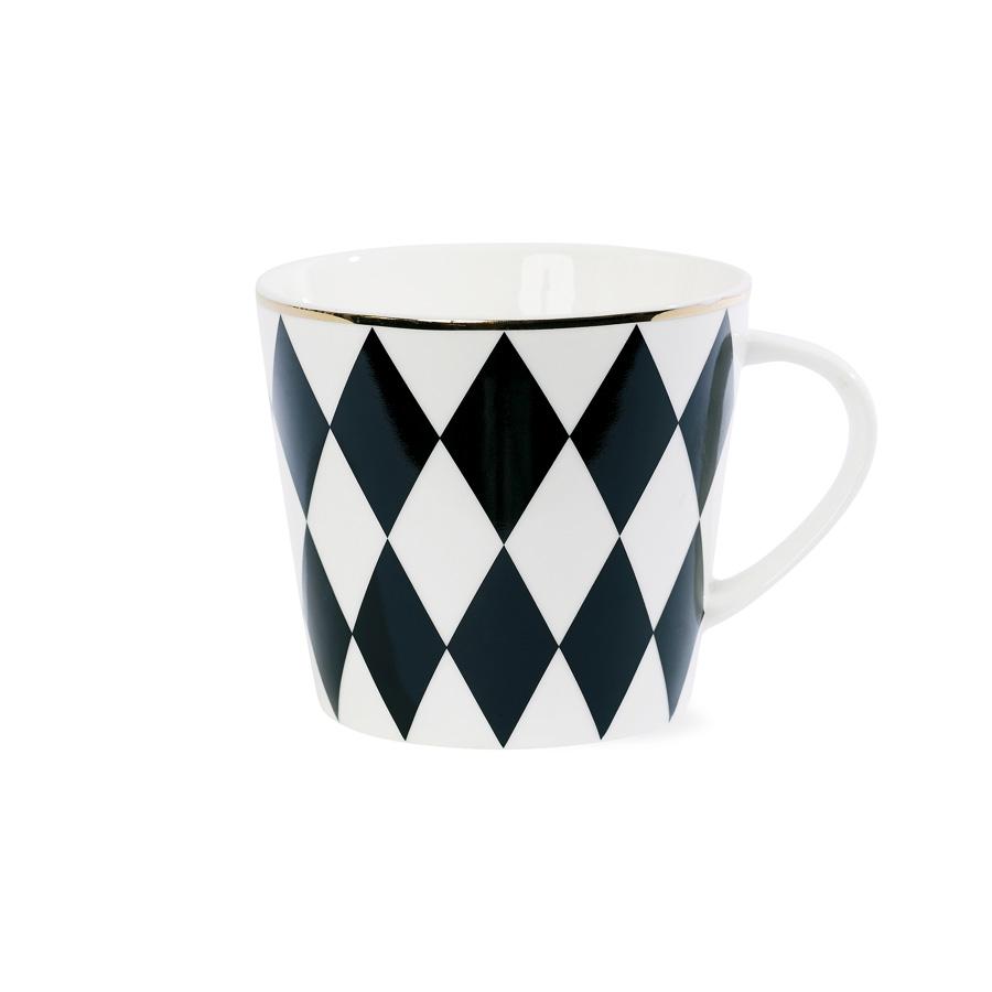 miss toile kaffeebecher harlequin schwarz online kaufen emil paula. Black Bedroom Furniture Sets. Home Design Ideas