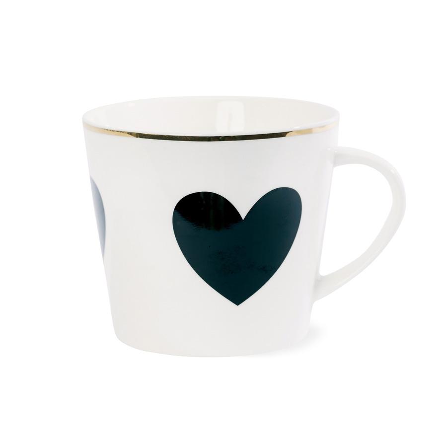 miss toile kaffeebecher big heart schwarz online kaufen emil paula. Black Bedroom Furniture Sets. Home Design Ideas