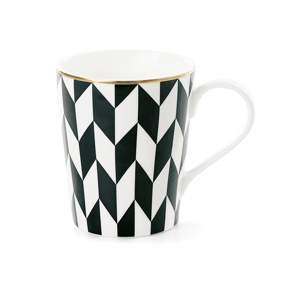 miss toile kaffeetasse zig zag black online kaufen. Black Bedroom Furniture Sets. Home Design Ideas
