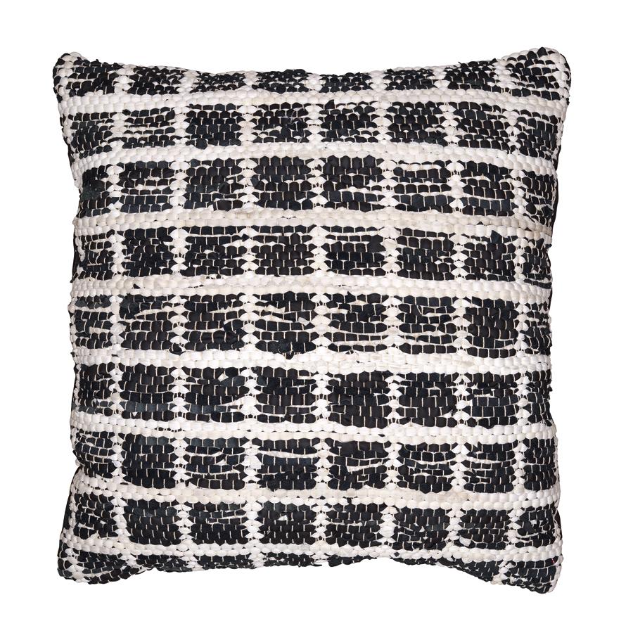 greengate kissen check black white mit f llung 70x70 online kaufen emil paula. Black Bedroom Furniture Sets. Home Design Ideas