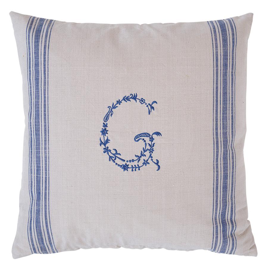 greengate kissenh lle g blue on warm grey 50 x 50 cm online kaufen emil paula. Black Bedroom Furniture Sets. Home Design Ideas