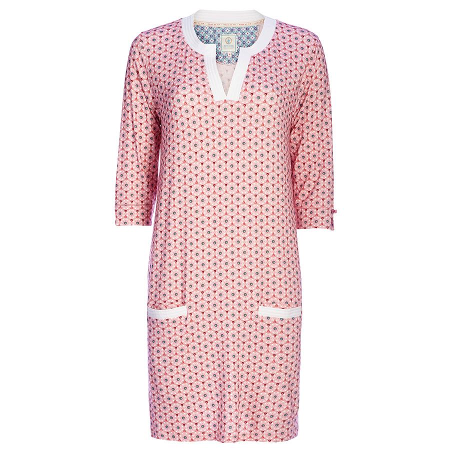 pip studio nachthemd 3 4 rmel deir buttons up pink online kaufen emil paula. Black Bedroom Furniture Sets. Home Design Ideas