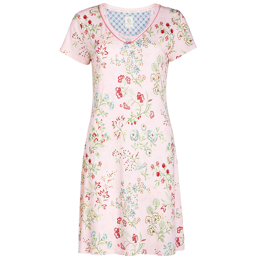 pip studio nachthemd djoy jaipur flower pink online kaufen emil paula. Black Bedroom Furniture Sets. Home Design Ideas