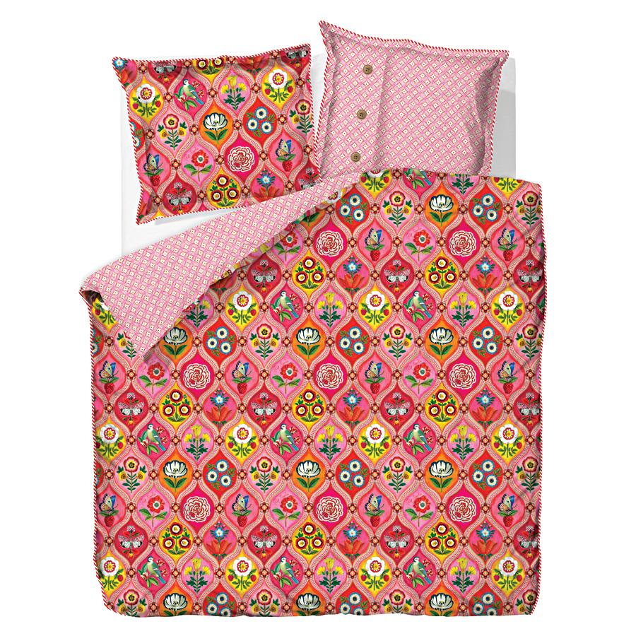 pip studio bettw sche fairy tiles pink online kaufen emil paula. Black Bedroom Furniture Sets. Home Design Ideas