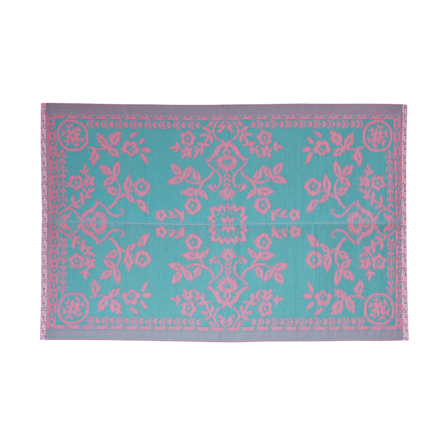 Rice KunststoffTeppich Pink and Mint Flower  online
