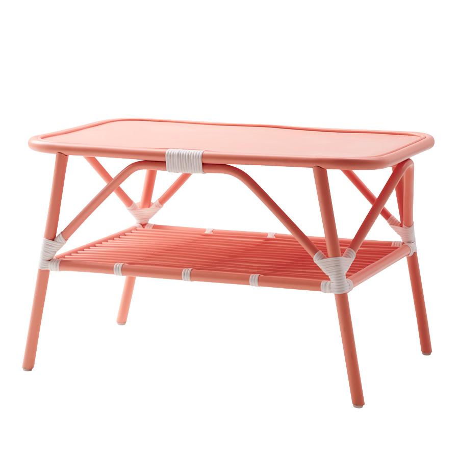 rice rattan beistelltisch soft coral online kaufen emil. Black Bedroom Furniture Sets. Home Design Ideas
