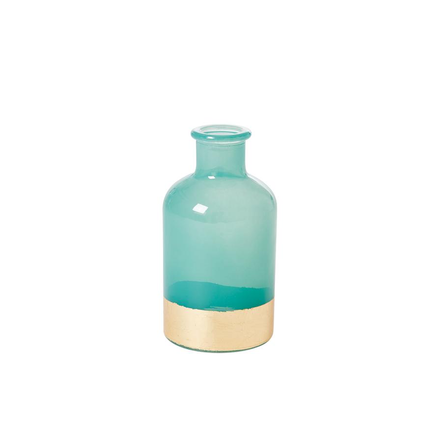rice glas vase gr n gold small online kaufen emil paula. Black Bedroom Furniture Sets. Home Design Ideas