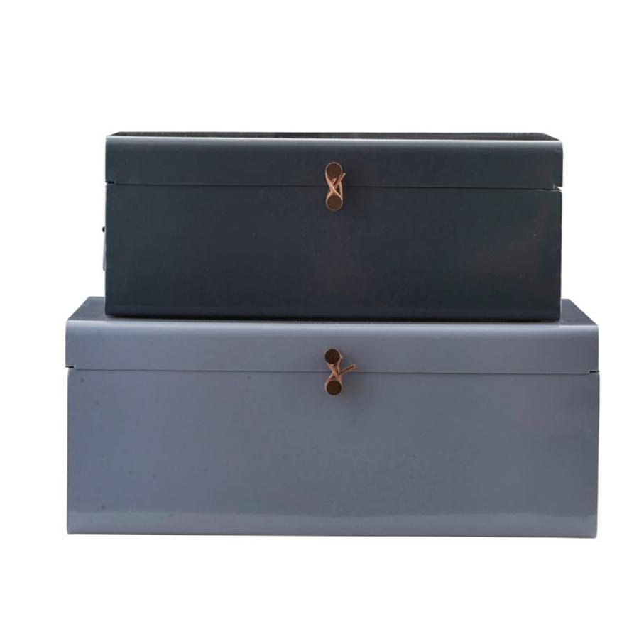 house doctor aufbewahrungs box metall 2er set online kaufen emil paula. Black Bedroom Furniture Sets. Home Design Ideas