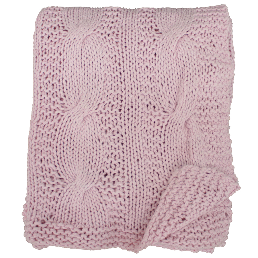 krasilnikoff tagesdecke knitted pink candy 130x180 online. Black Bedroom Furniture Sets. Home Design Ideas