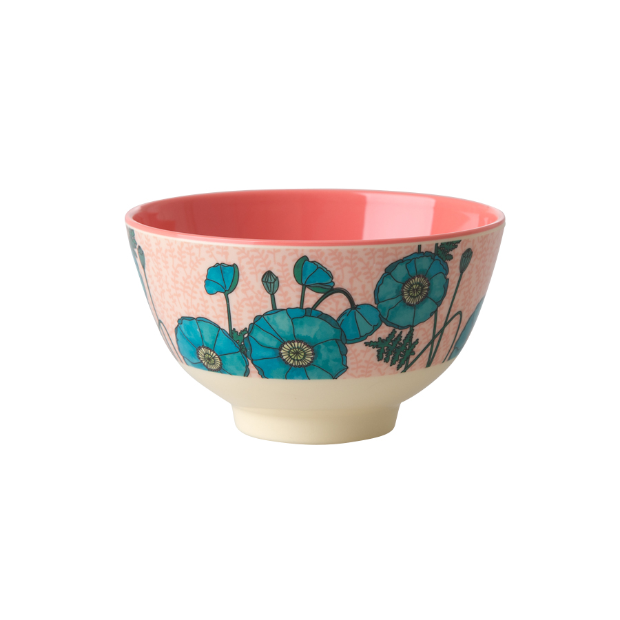 rice melamin sch ssel blue poppy online kaufen emil paula. Black Bedroom Furniture Sets. Home Design Ideas