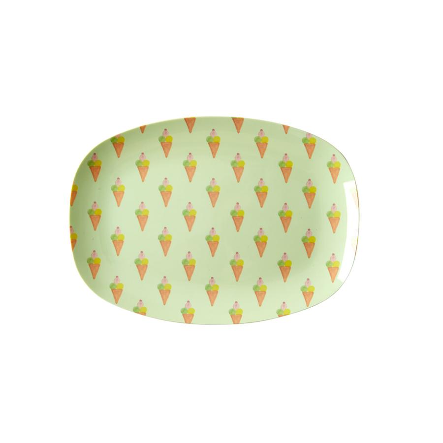 rice kleiner melamin teller oval ice cream online kaufen. Black Bedroom Furniture Sets. Home Design Ideas