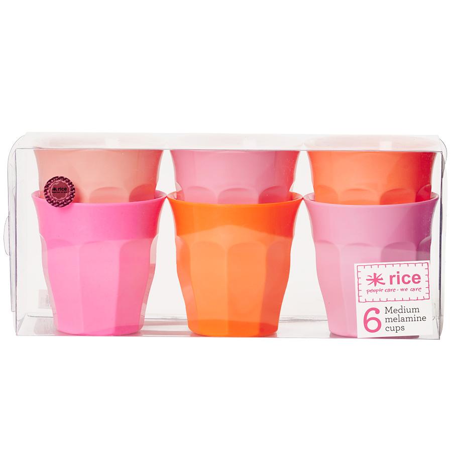 rice melamin becher curved pink orange 6er set online. Black Bedroom Furniture Sets. Home Design Ideas