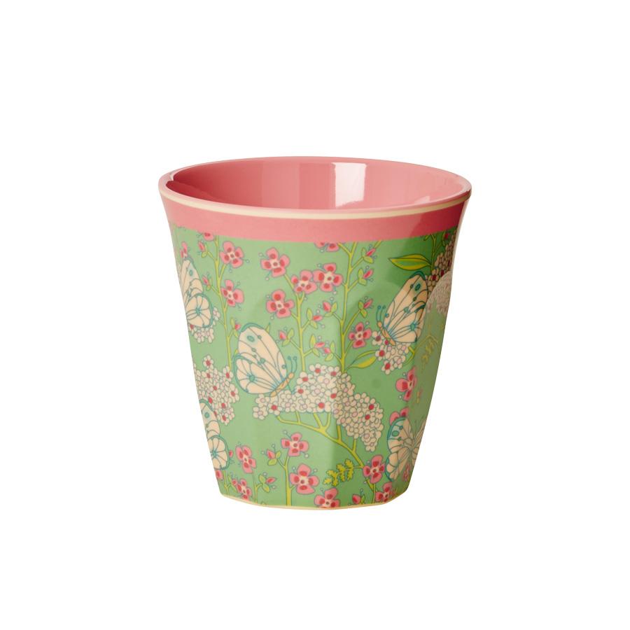 rice melamin becher two tone butterfly flower online. Black Bedroom Furniture Sets. Home Design Ideas