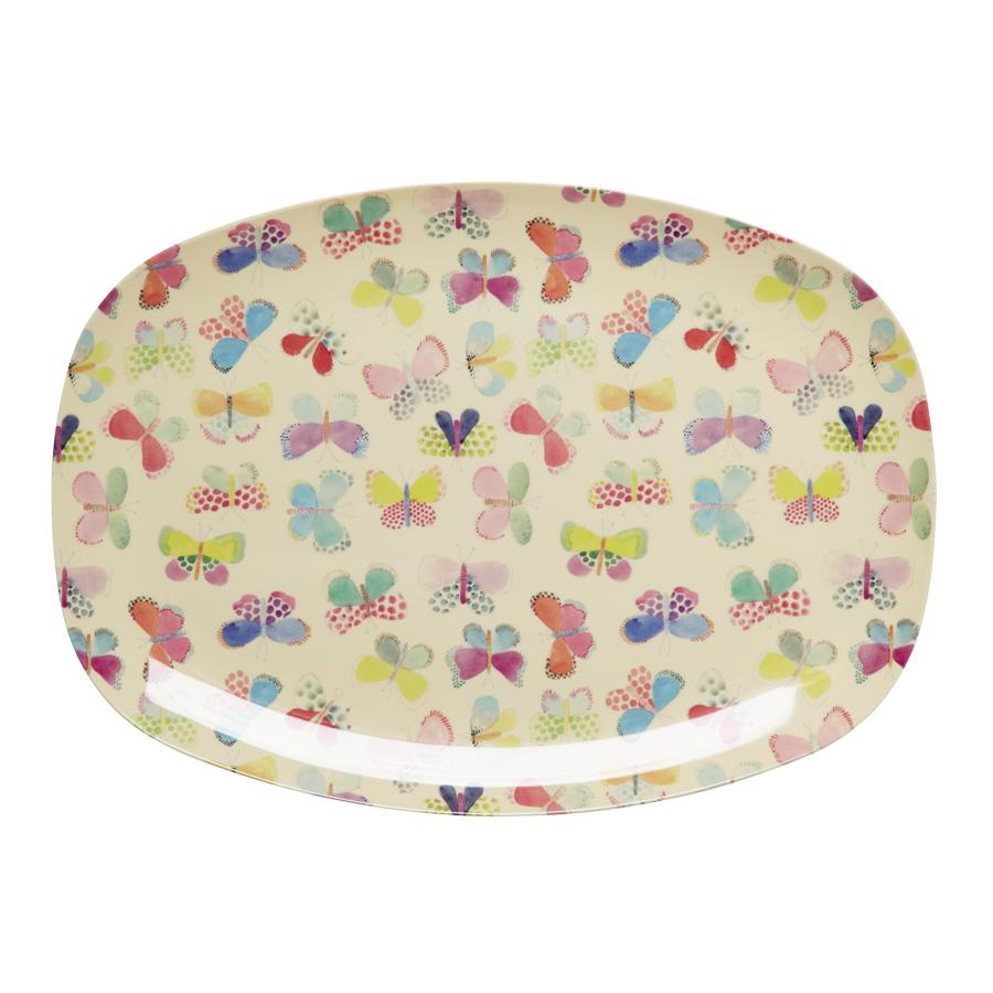 rice melamin teller oval butterfly online kaufen emil. Black Bedroom Furniture Sets. Home Design Ideas