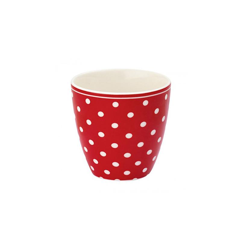 greengate mini latte cup becher spot red online kaufen. Black Bedroom Furniture Sets. Home Design Ideas