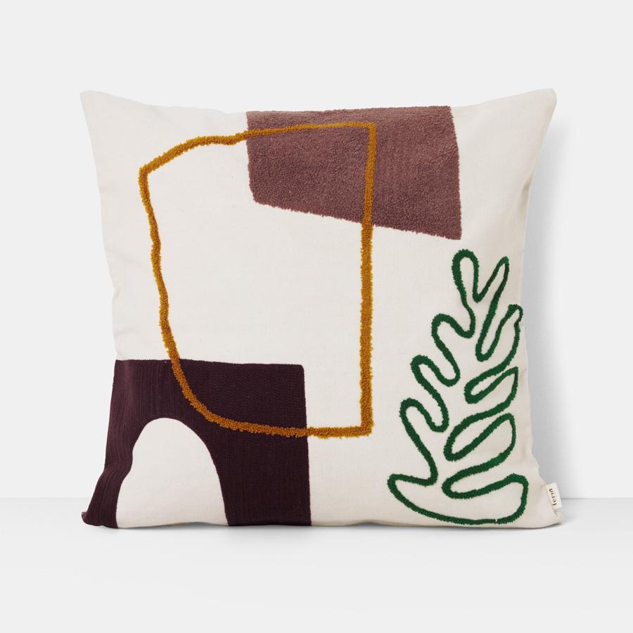 ferm living kissen mirage leaf 50 x 50 cm online kaufen. Black Bedroom Furniture Sets. Home Design Ideas