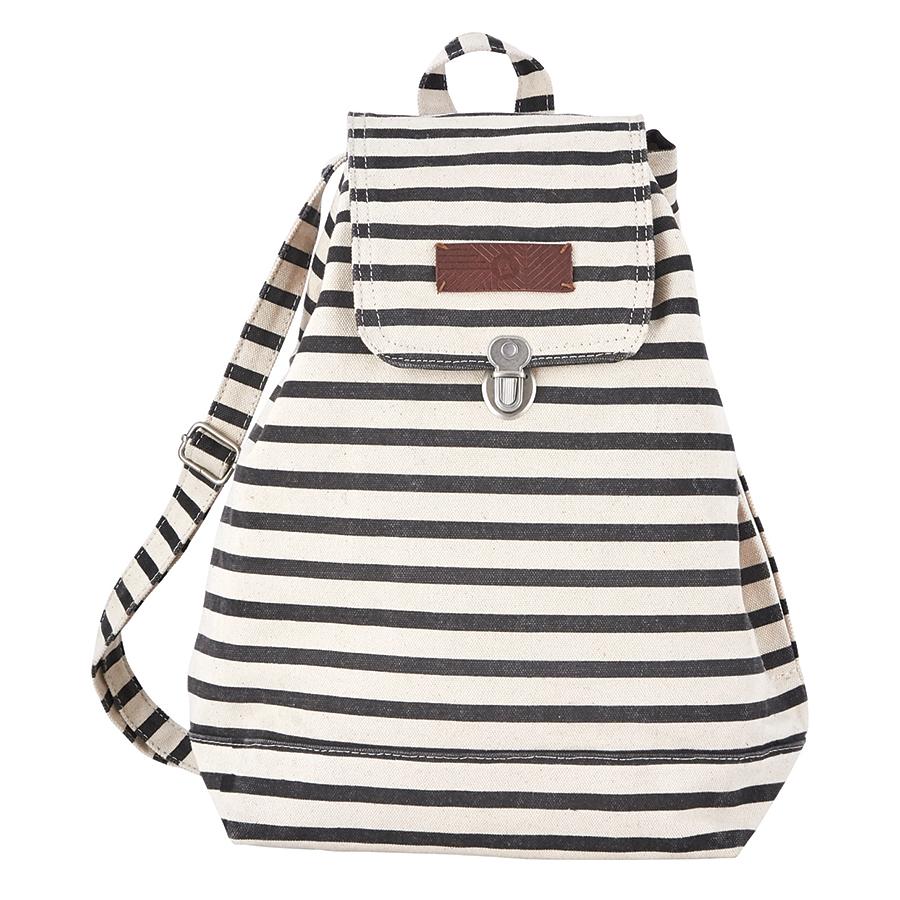 house doctor rucksack stripes schwarz wei online kaufen emil paula. Black Bedroom Furniture Sets. Home Design Ideas