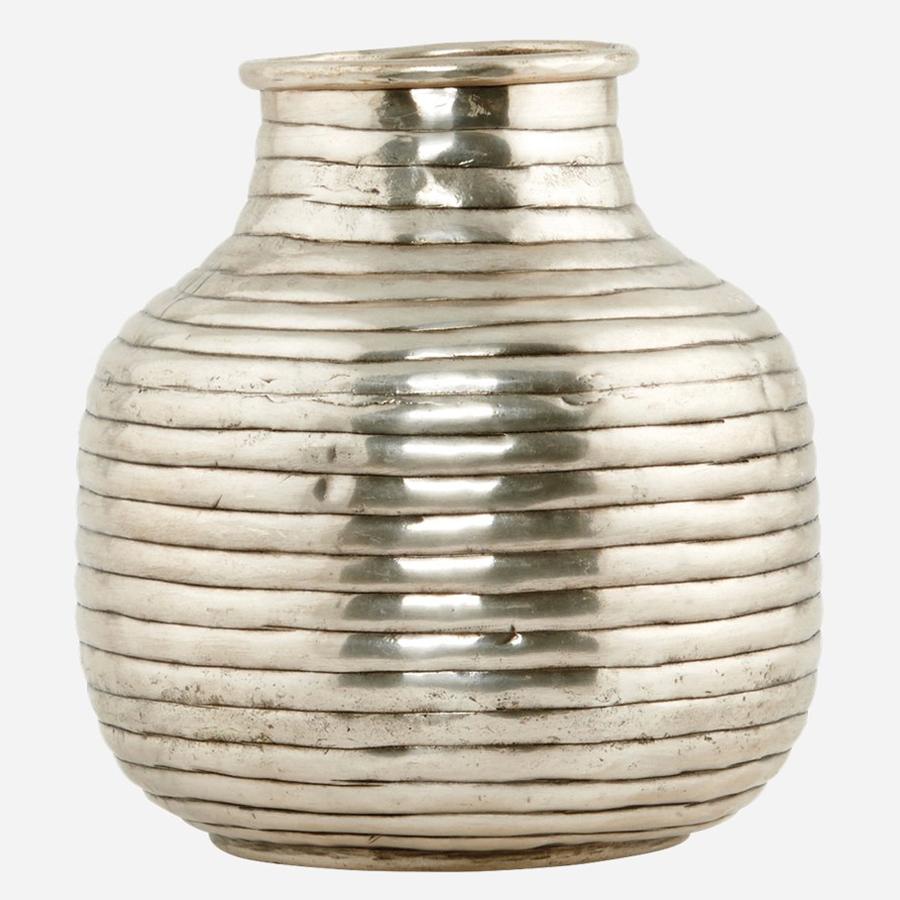 house doctor vase vertical silberfarben klein online. Black Bedroom Furniture Sets. Home Design Ideas